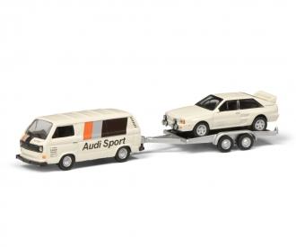 VW T3c AUDI SPORT w.trailer 1:87