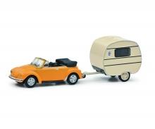 VW Käfer m. Wohnanh. 1:87