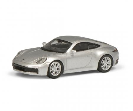 Porsche 911, silber 1:87