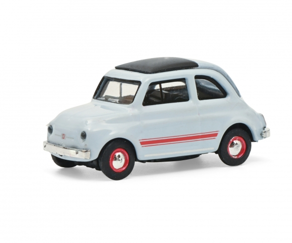 Fiat 500 Sport blau/grau 1:87