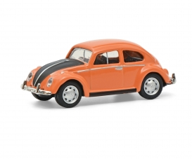 VW Käfer orange/schwarz 1:87