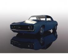 1:32 Chevrolet Camaro Z1 (Blue Dusk)