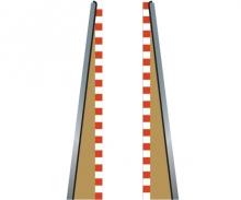 SPORT Randstreifen Anfang/Ende 350mm