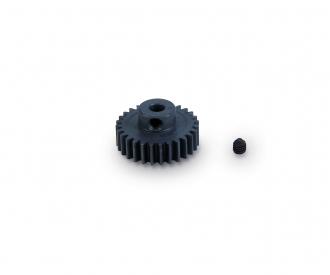 Pignon moteur  28 dents M 0,6 acier durc