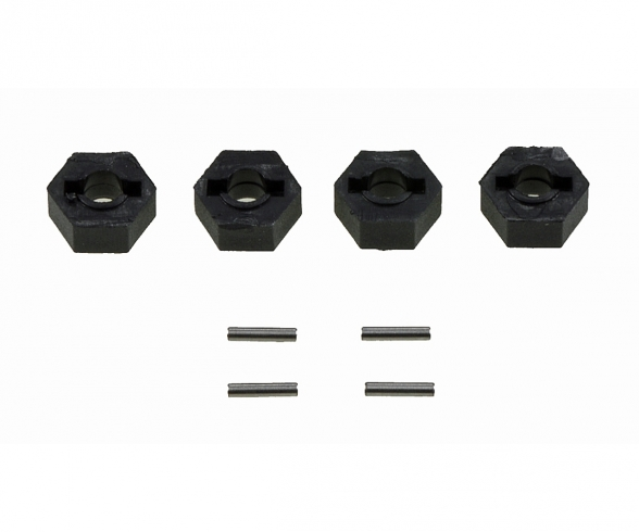 Wheel hex (4) 12 mm with pin C V-10