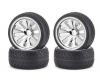On-road tyre set, chrome (4) C V-10B