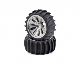 Beach tyre set, chrome (4) CV- 10B