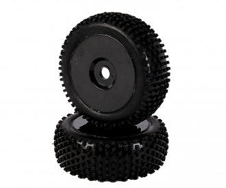 1:8 Tyre Set Dish black 2pcs