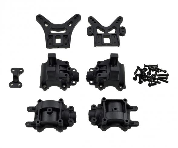 X10ET-XL Dämpferbr./Getriebegeh.-Set