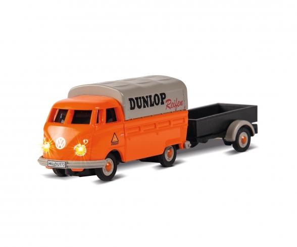 1:87 VW T1 Bus Dunlop w.trailer 100% RTR