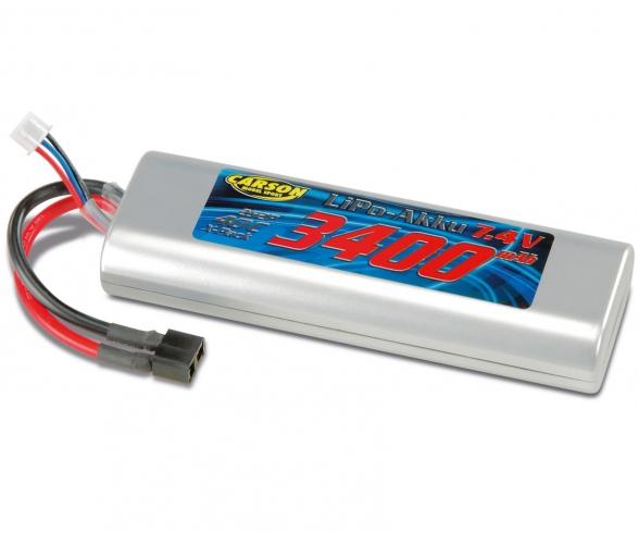 7,4V/3400mAh 40C LiPo Racing Pack accu