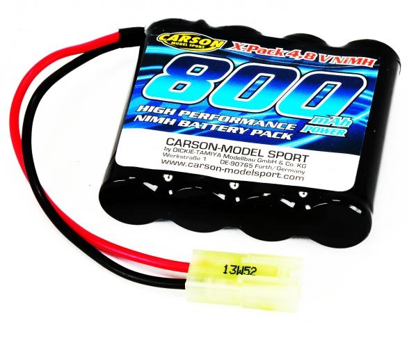 4,8V/800mAh NiMH Power accu Mini-TAM