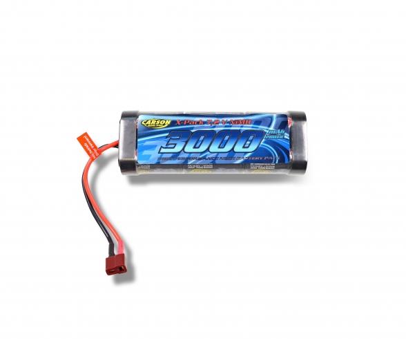 7,2V/3000mAh NiMH Race accu T-Plug