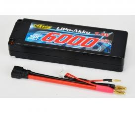 7,4V/6000mAh 50C LiPO Battery T-Pl. HC