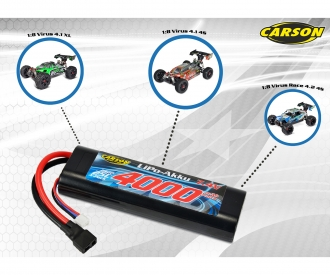 7,4V/3200mAh 25C LiPO Battery T-Pl. HC R