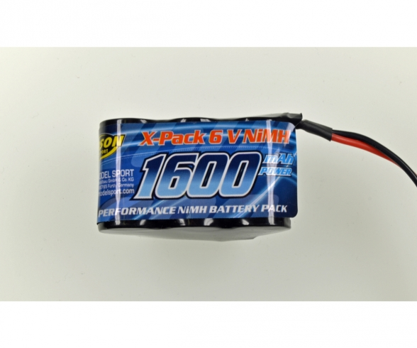 6V/1600mAh NiMH RX-accu Hump JR