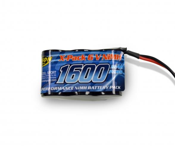 6V/1600mAh NiMH RX-Battery Hump JR