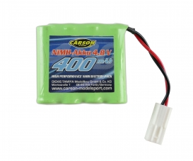 4,8V/400mAh NiMH Battery RC-Bau Mini-TAM