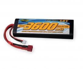 7,4V/3600mAh 60C LiPO Battery T-Pl. HC R
