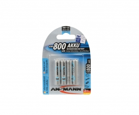 1,2V/800mAh Micro/AAA Battery Set (4)