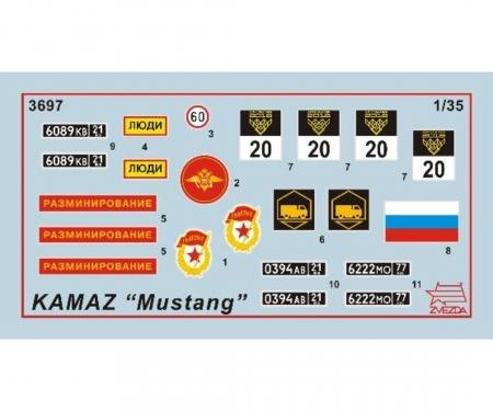 1:35 Kamaz 5350 Mustang
