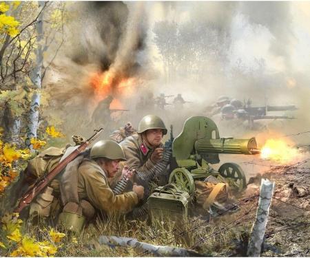 1:72 WWII Fig.-Set Sov.Mach.gun-Crew (4)