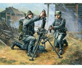 1:72 WWII Dt. 81-mm Mörser m. Mannschaft