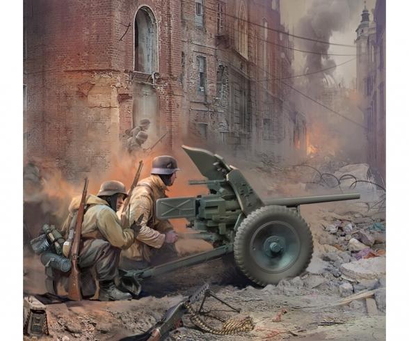 1:72 WWII Deutsche Pak-36 mit Trupp
