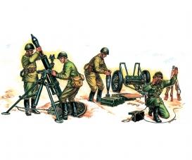 1:72 Soviet 120-mm Mortar with Crew