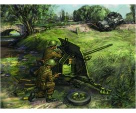 1:72 British QF 2-pdr Anti Tank Gun,crew