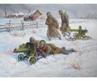 1:72 Soviet Machine-gun w/Crew (Winter)