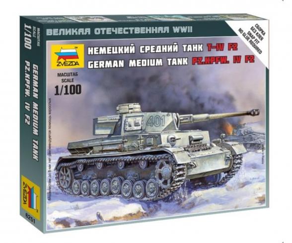 Panzer Iv Ausf.H Kit ZVEZDA 1:100 ZS6240