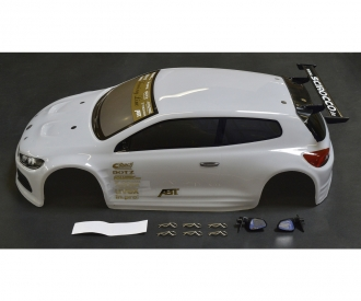 1:10 Caross. VW Scirocco blanc avec déco