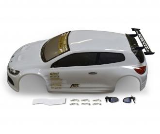 1:10 Kaross. VW Scirocco weiss mit Dekor