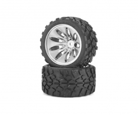Tyre/ wheel rim set Off-Road C V-10T Chr