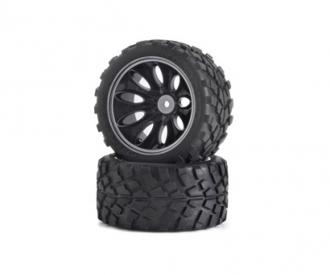 Tyre/wheel rim set Off-Road CV-10T black