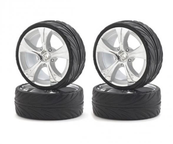 1:10 Big Wheel-Set On-R.13 silb/w 4 St.