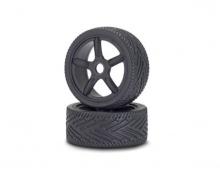 1:8 On-Road Tyre/Wheel-Set, black (2)