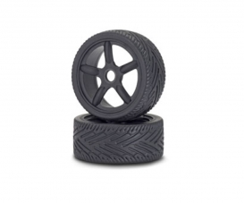 1:8 On-Road Tyre/Wheel-Set, black (2)