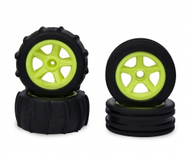 1:10 2WD Paddle Tires 4pcs (neon yellow)