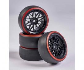 1:10 Wheel Set Drift (4) black/red