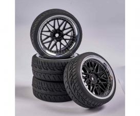 1:10 Wheel Set Y-Design1 (4) bl./chrome