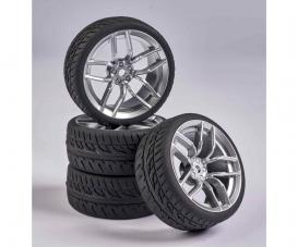 1:10 Wheel Set 10 sp. Design (4) silver