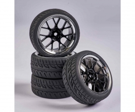 1:10 Wheel Set Y-Design2 (4) bl./chrome