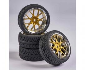 1:10 Wheel Set Y-Design2 (4) gold/chrome