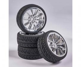 1:10 Wheel Set M-Design (4) chrome