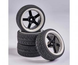 1:10 Wheel Set 5 sp. Design (4) black/wh