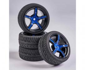 1:10 Wheel Set 5 sp. Design (4) blue/bl