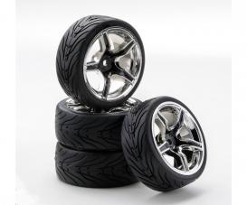 1:10 SC-Räder AMC Style ch./schwarz (4)