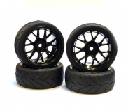 Touring Tyre Set 3mm 1/10 TA(WR.)bl.(4)